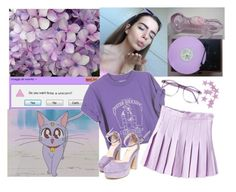 """purple"" by aestheticautumn ❤ liked on Polyvore featuring Gucci and Warehouse"