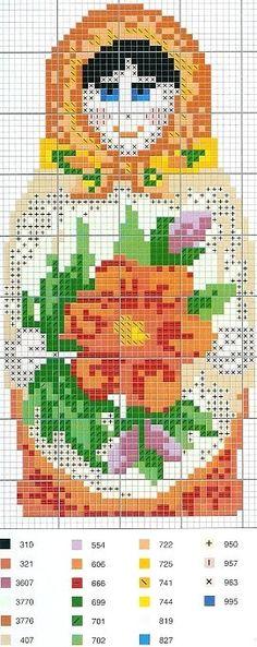 matryoshka cross stitch chart