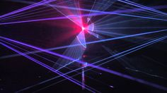 The lasershow during the launch of the Lely Vector automatic feeding system.