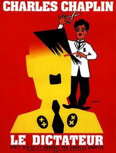 """""""Le Dictateur"""" de Charlie Chaplin, le 23/10 à 16h30 http://www.forumdesimages.fr/les-films/les-programmes/quelle-connerie-la-guerre/le-dictateur_1"""