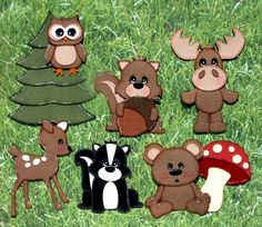 Woodland Animals Boy Girl Premade Paper Piecings for Scrapbook Pages CBC TSPD | eBay ****SOLD****