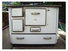 Küchenhexe alt ~ Woeste dauerbrandherd omas herd emaille emailiert antik alt