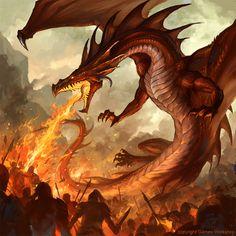 Fire Breathing dragon, por sandara