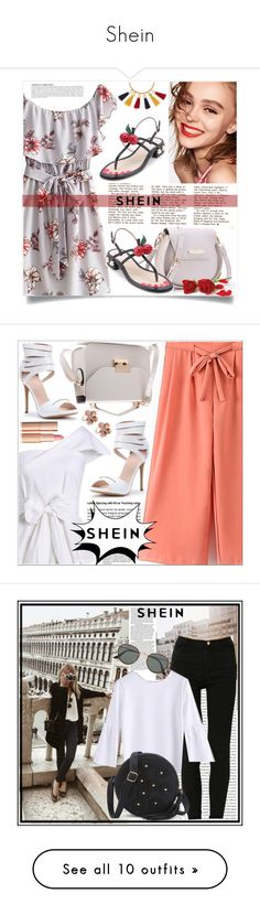 """Shein"" by adelisa56 ❤ liked on Polyvore featuring Naomi Campbell, Chloé, Anja, shein, Allurez, Oris, Ray-Ban, Violeta by Mango, AK Anne Klein and WALL"