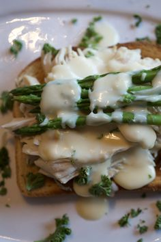 Chicken Breast and Asparagus with Cheese Sauce