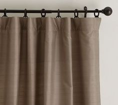Dupioni Silk Pole Pocket Drape #potterybarn