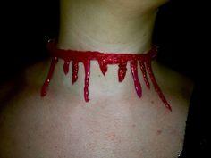Hot Glue Gun Blood Dripping Necklace Tutorial