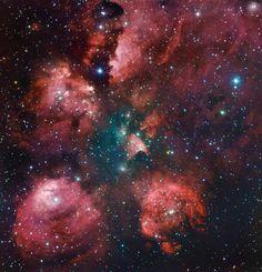夜空に輝く赤い肉球、「猫の手星雲」
