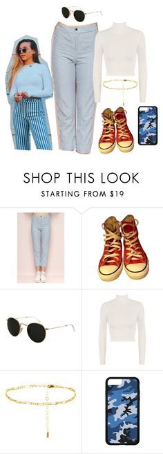"""emma chamberlain !!!!"" by kristinacason ❤ liked on Polyvore featuring Converse, Ray-Ban and WearAll"