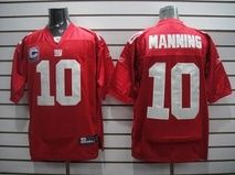 XLarge Adult Men's Giants Eli Manning #10 Stitched Red NFL Jersey