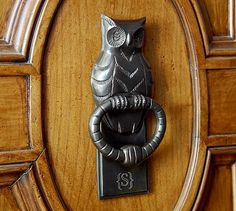 Owl Door Knocker from Pottery Barn. Saved to Epic Wishlist. Shop more products from Pottery Barn on Wanelo. Owl Door, Door Knobs And Knockers, Unique Doors, Door Wreaths, Pottery Barn, Door Handles, Metal, Amazing, Incredible India