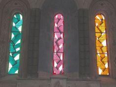 Octobre 2012. Eglise templière : acte premier., Réalisations : Créations,, Vitrail et Vitraux de Carlo Roccela