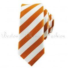 Slim Neckties Bestow Orange Skinny Tie Set
