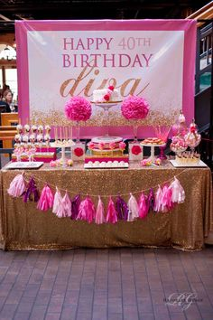 Create ~ Cook ~ Capture: Diva Pink & Gold 40th Birthday Party