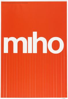 """Poster, """"MIHO: An exhibition of works by James and Tomoko Miho"""", 1972"""