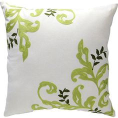 """Better Homes and Gardens Citrus Scroll 18""""x18"""" Decorative Pillow, Cream...a bargain at less than $14 ea."""