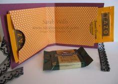 tutorial tea bag holder card; could be gift cards holder