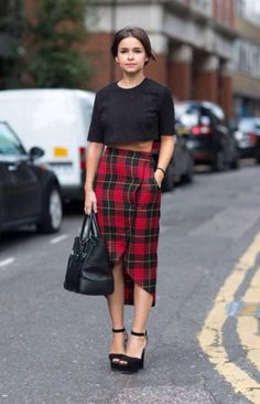 a plaid skirt for a fabulously plaid trend