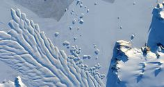 TIPPING POINT A new record of the Antarctic ice sheet's formation suggests that carbon dioxide levels in the atmosphere could soon reach a tipping point that will make the ice sheet more vulnerable to melting. That includes ice in East Antarctica, such as Matusevich Glacier (shown). ~~ NASA Goddard Space Flight Center