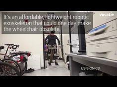An exoskeleton to help paralyzed humans walk again. Wedding Night, Robot, Technology, Amazing, How To Make, Tecnologia, Tech, Honeymoon Night, Robotics