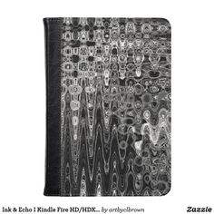 Protect your Kindle Fire HD or HDX with an artist-designed folio case made with a high-quality vegan leather exterior and a soft gray faux suede to protect your screen. The Ink & Echo I Kindle Fire HD/HDX Folio Case designed by Artist C.L. Brown features an abstract kinetic light painting design enhanced with Photoshop. When ready to use, this folio case folds into 3 standing positions or fully opens for unrestricted use and easy access to all controls and connections. Designed and fit for…