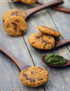 Oats Moong Dal Tikki recipe | by Tarla Dalal | Tarladalal.com | #35288