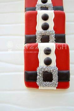 Santa cookies by cookie artist Jodi Willis - Sew La Ti Dough: www.sewlatidough.com/home.html