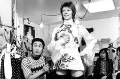 """Bowie attends a fitting in April 1973 with Kansai Yamamoto for a set of specially commissioned, highly elaborate stage clothes"" Speed of Life, by David Bowie and Masayoshi Sukita   limited edition 2,000 book - £360,   www.genesis-publications.com."
