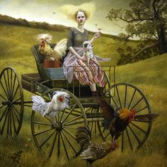 The Beautiful Paintings of Andrea Kowch --- a series of surreal, dreamlike scenes in the vast, desolate landscapes Jig Saw, Modern Art, Contemporary Art, Grafiti, Magic Realism, Surreal Art, Beautiful Paintings, American Artists, Science Fiction