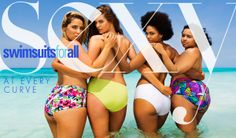 """To prove that """"sexy curves go beyond a size four"""", plus-size swimwear company Swimsuits For All recreated the cover of this year's Sports Illustrated swimsuit issue with plus-size models. Modelos Plus Size, Swimsuits For All, Plus Size Swimsuits, Swimsuits 2014, Magazine Sportif, Cosmopolitan, Sports Illustrated Swimsuit Covers, Swimsuit Illustrated, Robyn Lawley"""