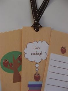 free printable owl bookmarks to match the book plate. love!