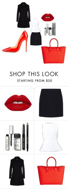 """""""Day at the office"""" by makayla-glitter-g ❤ liked on Polyvore featuring Lime Crime, Balenciaga, Bobbi Brown Cosmetics, Marni, Moschino Cheap & Chic, Victoria Beckham and Christian Louboutin"""