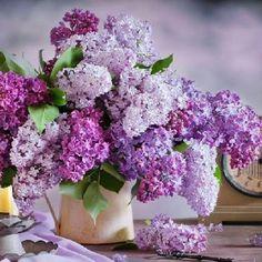 Centerpiece-Love lilacs.