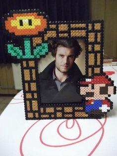 Super Mario Photo Frame perler beads