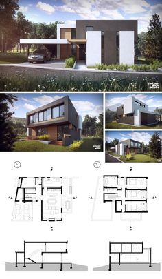 Modern House Design for one family. TBA - 300 m2 <br> http://kunchevarchdesign.com/portfolio/single-family-house-dragalevci-sofia/