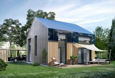 Tiny Houses These mini-houses you can buy in Germany Tiny Houses You can buy these mini-houses in Germany Business Insider Germany Tiny House Rheinau, Two Bedroom Tiny House, Modern Tiny House, Tiny House Plans, Tiny House Design, Tiny Houses, Houses In Germany, Contemporary Cottage, Prefabricated Houses