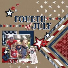 Fourth of july scrapbook designs, scrapbook pages, scrapbook layout Album Scrapbook, Scrapbook Layout Sketches, Scrapbook Templates, Scrapbook Designs, Baby Scrapbook, Travel Scrapbook, Scrapbook Paper Crafts, Scrapbooking Layouts, Scrapbook Rooms