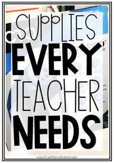 Supplies New Teachers Actually Need