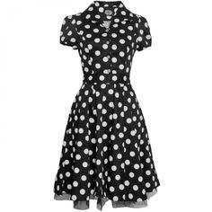 Hearts & Roses Polka Dot Button Dress