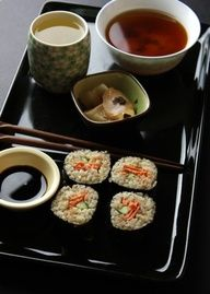 Brown Rice Sushi Recipe - Best Home Chef #japanese #healthy #lunch #Cake