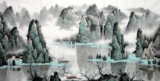 dibujos tradicionales japoneses rio - Buscar con Google