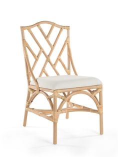 Rattan Chippendale Upholstered Dining Chair, Set of 2 Chairs Hanging Swing Chair, Swinging Chair, Upholstered Dining Chairs, Dining Chair Set, Dining Room, Tropical Style, Coastal Style, Papasan Chair, Side Chairs