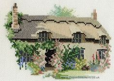 Thornton le Dale Cottage Cross Stitch Kit from Derwentwater Designs