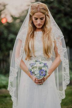 An Elegant Cymbeline Gown for a Pale Blue, Rustic Style, September Wedding Luxe Wedding, Wedding Blog, Wedding Ideas, Wedding Stuff, Bridal Headpieces, Bridal Gowns, Dresses Uk, Flower Girl Dresses, Wedding Favors Unlimited