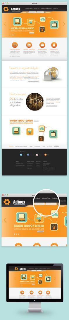 Adtoox - web design by Marc Ruaix, via Behance