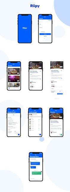 Event App on Behance Mobile App Design Templates, Ui Design Mobile, Mobile Application Design, Ios App Design, App Icon Design, App Wireframe, Mobile App Icon, Event App, App Background