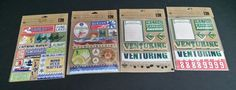 Lot Boy Scouts of America Embossed Sticker Sheets Adhesive Chipboard Scrapbook  #KCompany #CubScoutBoyScoutEagleScout