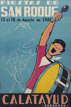 Fiestas San Roque Calatayud  1981