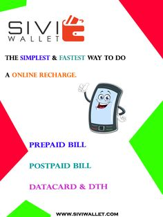 """SIVI WALLET - """"Independent Mobile payment company"""" Mobile recharge , DTH recharge , Pay electricity bills , Pay Landline bills, Data card etc www.siviwallet.com #SIVIWALLET #Mobile_recharge"""