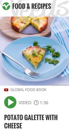 POTATO GALETTE WITH CHEESE | #glutenfree #potatoes | http://veeds.com/i/-oYzYiEX5klOuTxO/jummy/